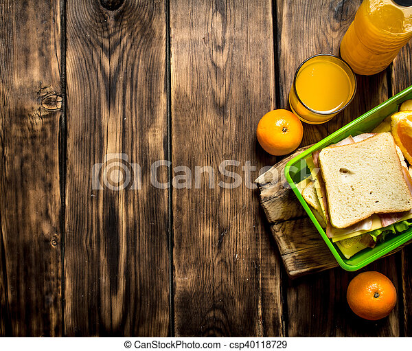 Sandwiches with cheese and bacon, - csp40118729