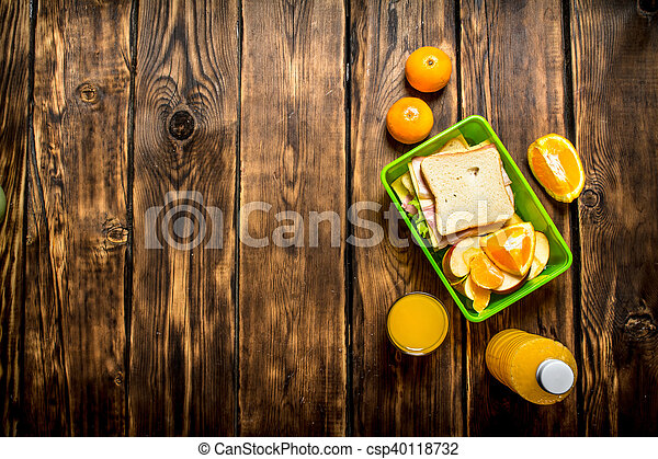 Sandwiches with cheese and bacon, - csp40118732