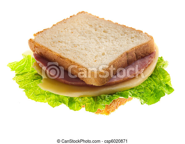 sandwiches with cheese and ham . - csp6020871