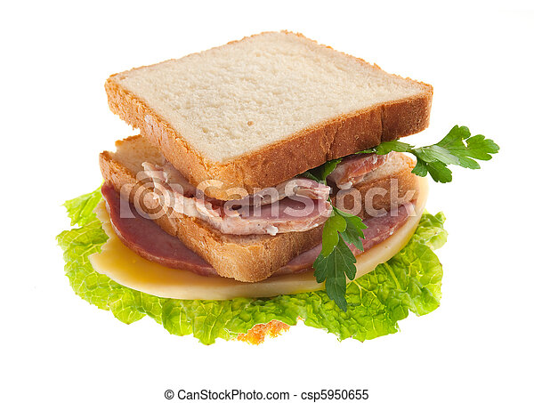 sandwiches with cheese and ham . - csp5950655
