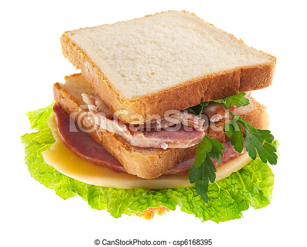 sandwiches with cheese and ham . - csp6168395