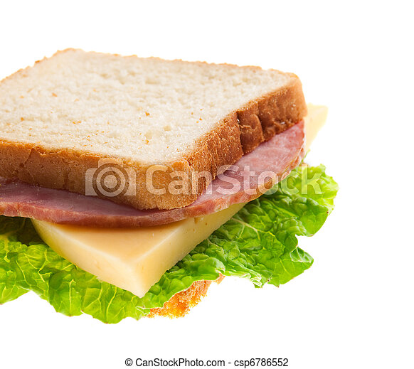 sandwiches with cheese and ham . - csp6786552