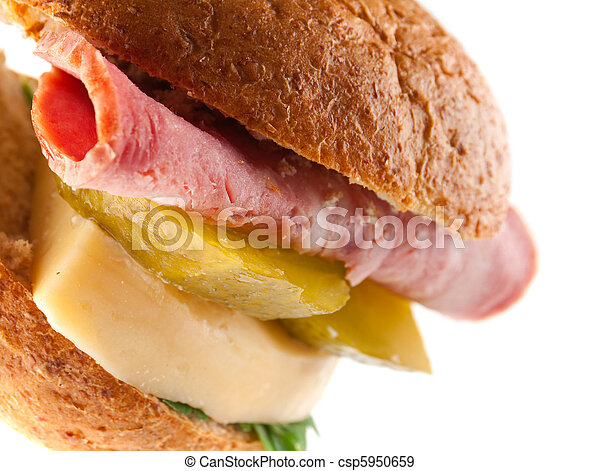 sandwiches with cheese and ham . - csp5950659