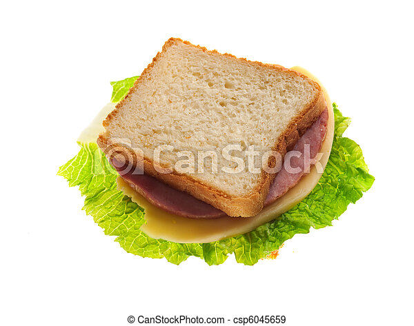 sandwiches with cheese and ham . - csp6045659