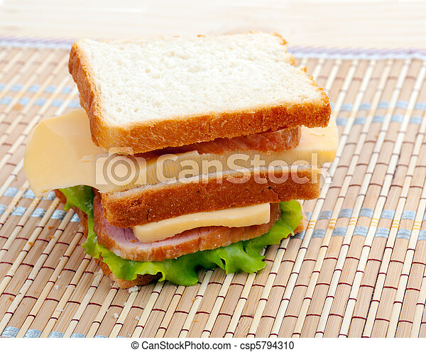 sandwiches with cheese and ham - csp5794310