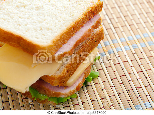 sandwiches with cheese and ham . - csp5847090