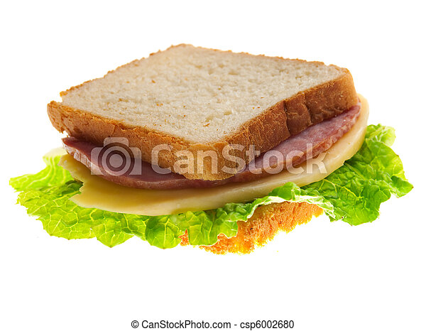 sandwiches with cheese and ham . - csp6002680