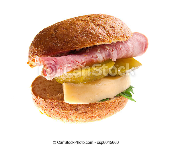 sandwiches with cheese and ham . - csp6045660