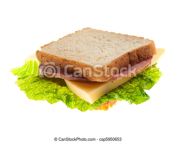sandwiches with cheese and ham . - csp5950653