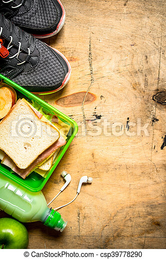 Sandwiches with ham and cheese - csp39778290