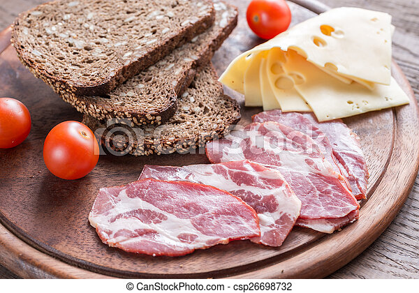 Sandwiches with ham and cheese - csp26698732