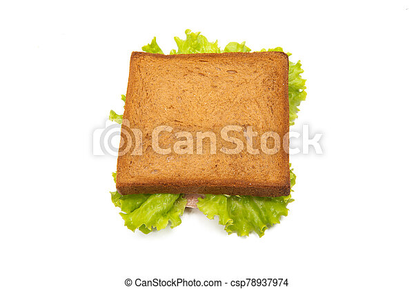 sandwiches with ham isolated - csp78937974