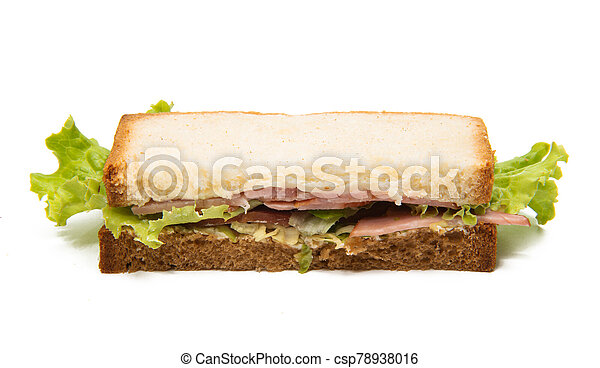 sandwiches with ham isolated - csp78938016