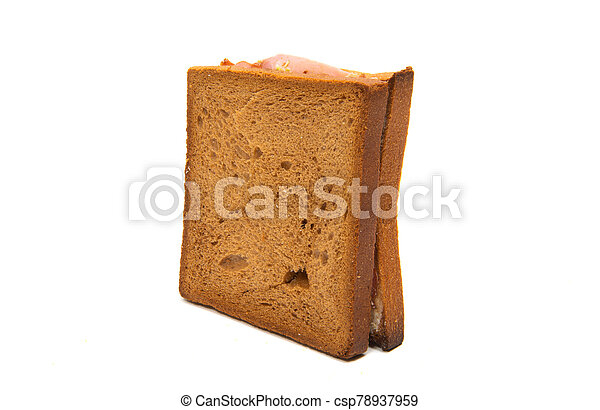 sandwiches with ham isolated - csp78937959