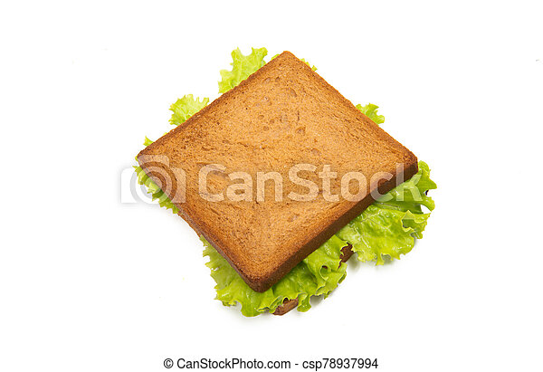 sandwiches with ham isolated - csp78937994