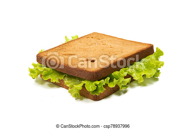 sandwiches with ham isolated - csp78937996