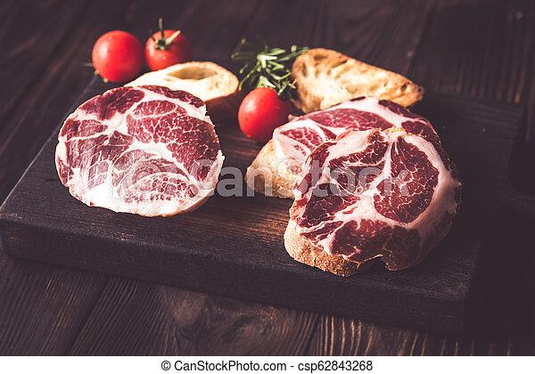 Sandwiches with ham - csp62843268