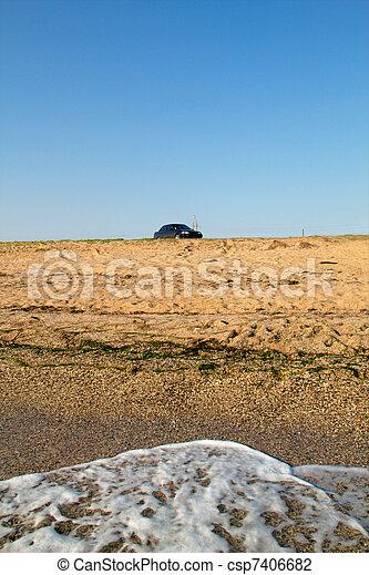 Sandy beach on the Black Sea coast - csp7406682