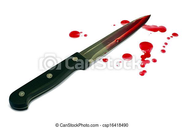 sanguinante, coltello, cucina - csp16418490