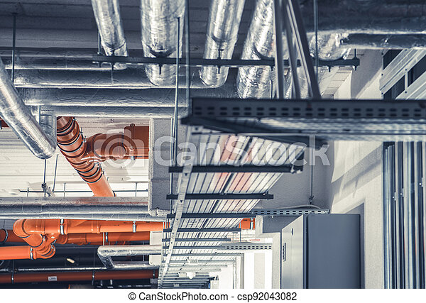 Sanitary, Power and Heating System Pipelines - csp92043082