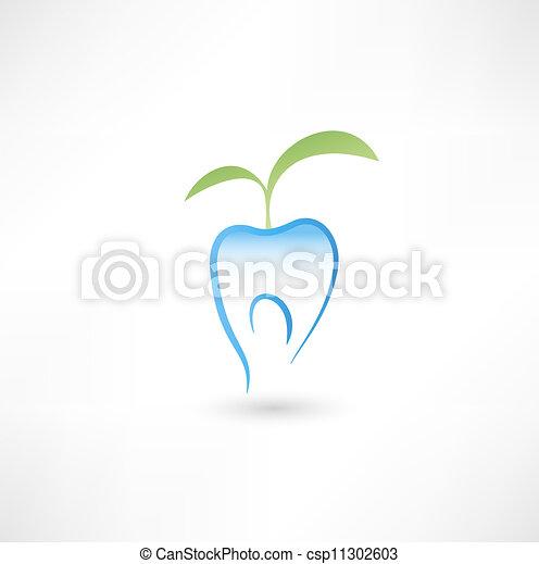 Un icono de dientes saludable - csp11302603