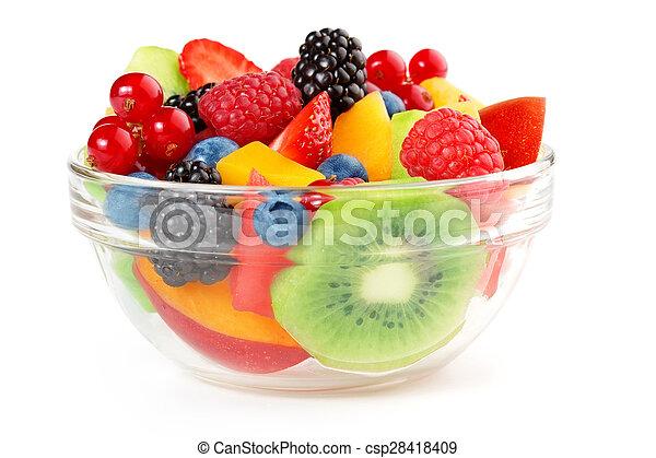 Ensalada de fruta fresca y saludable - csp28418409