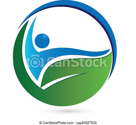 sano, logotipo, concetto - csp20227534