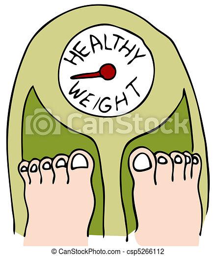 Peso saludable - csp5266112