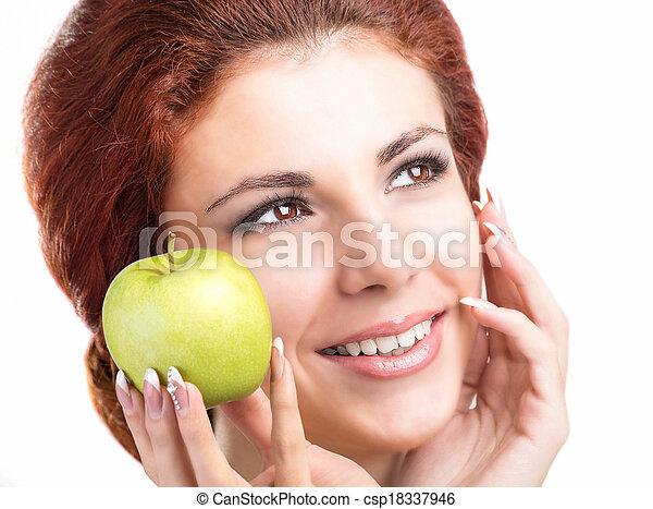 sano, sorriso, denti bianchi - csp18337946