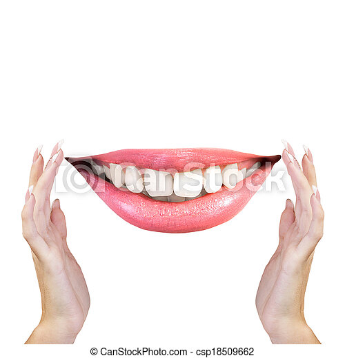 sano, sorriso, denti bianchi - csp18509662