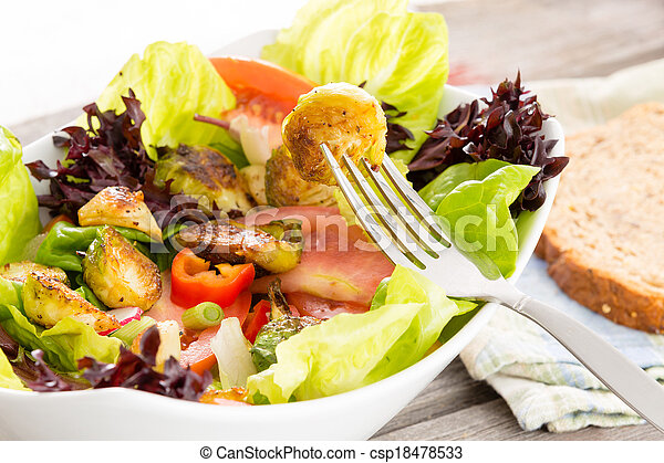 sano, vegetariano, godere, pasto - csp18478533