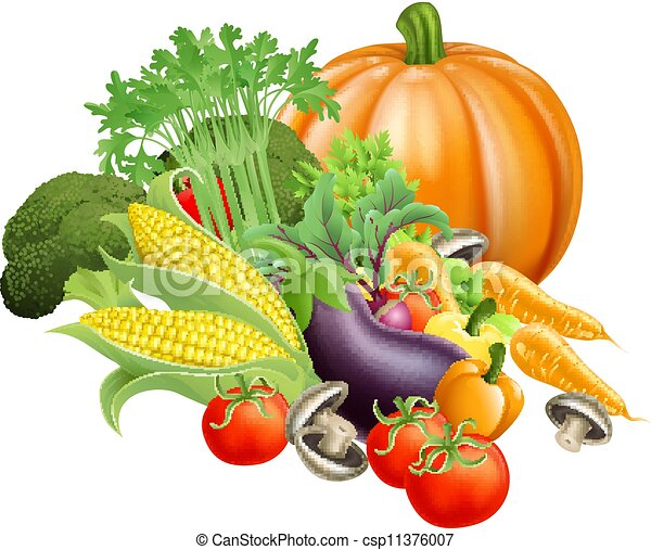 Vegetales frescos saludables - csp11376007