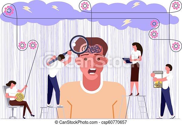 santé, concept, problèmes, mental - csp60770657