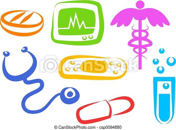 santé, icônes - csp0094880