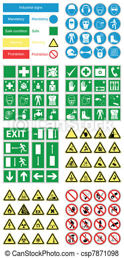 santé, &, sécurité, danger, signes - csp7871098