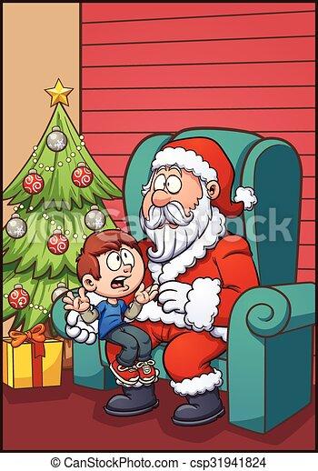 Santa and kid - csp31941824