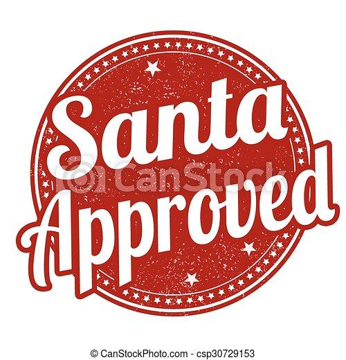 Santa approved stamp - csp30729153