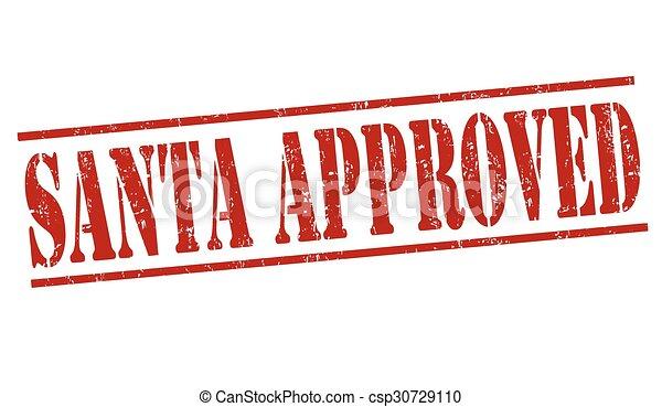 Santa approved stamp - csp30729110