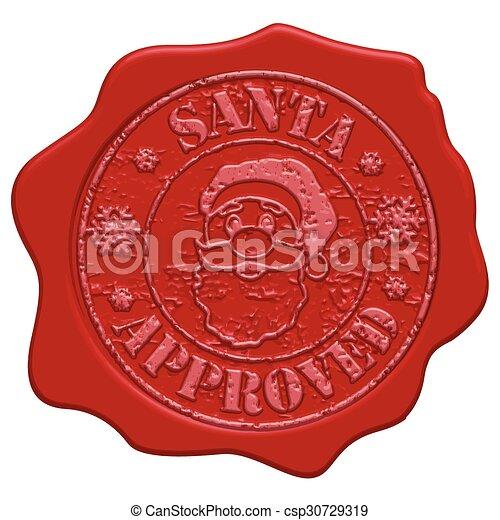 Santa approved wax seal - csp30729319