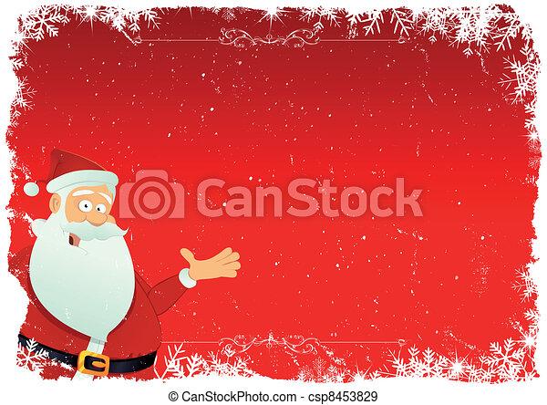 Santa Background - csp8453829