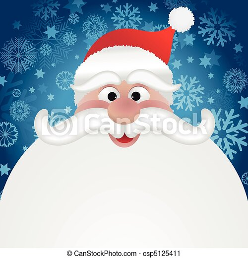 santa background cartoon santas face on a snowflake background