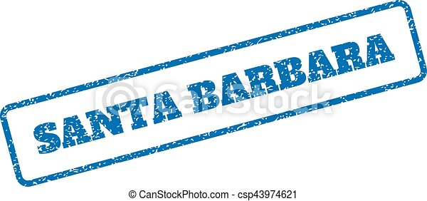 Santa Barbara Rubber Stamp - csp43974621