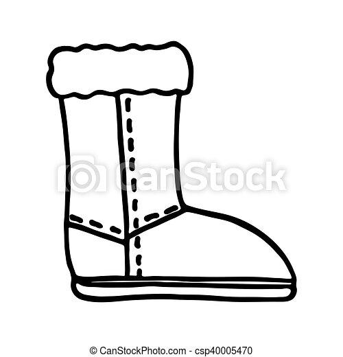 santa boot icon on white background csp40005470