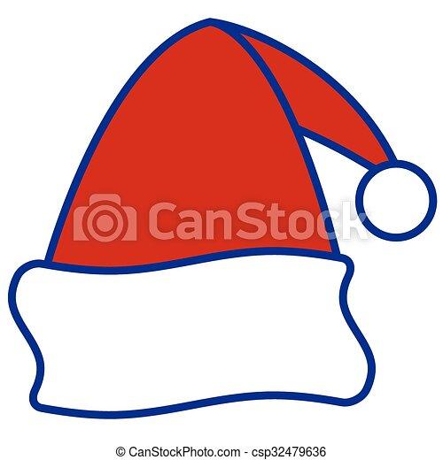 santa cap illustration of the santa claus cap icon vectors search rh canstockphoto com