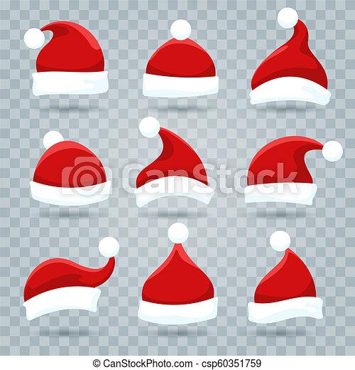 Christmas Hat Transparent.Santa Christmas Hat Set