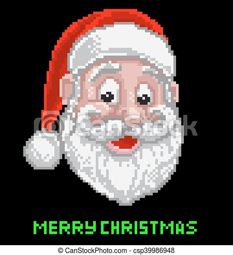 Santa Christmas Pixel Art