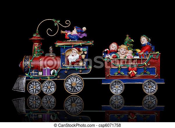 Santa Christmas Train - csp6071758