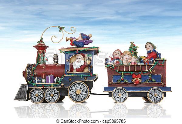 Santa Christmas Train - csp5895785