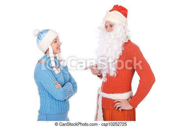 Santa Claus and the Snow Maiden - csp10252725