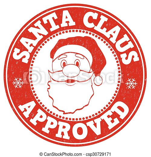 Santa Claus approved stamp - csp30729171